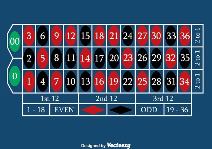 Blue Roulette Table Vector