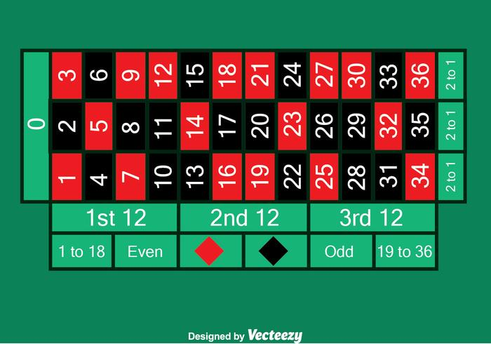 Green Roulette Table Vector
