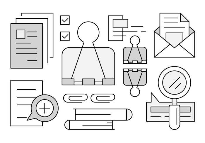 Linear Office Icons