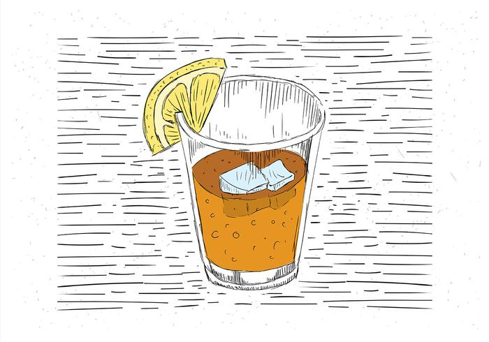 Free Hand Drawn Vector Cold Drink Illustration