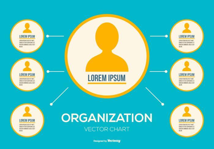 Vektor Organisationskarta Illustration