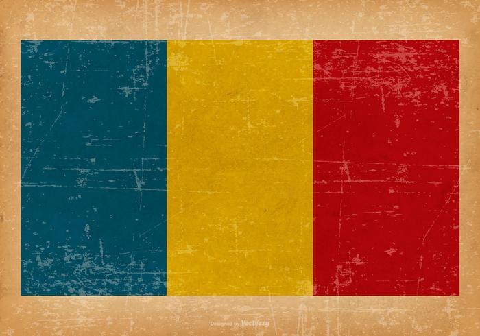 Bandeira do Grunge da Romênia vetor