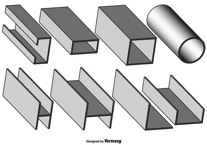 Vector Set Of Gray Girder