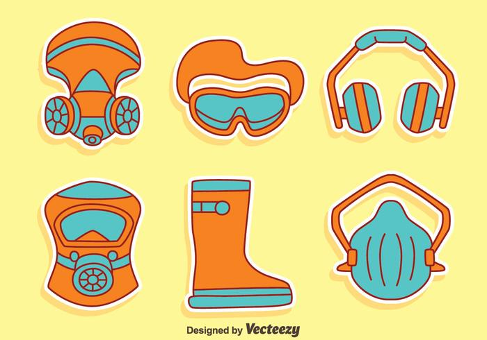 Job Safety Equipment Vector