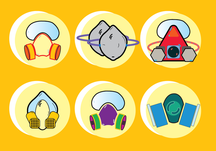 Respirator Chemical Gas Mask Icon For Any Purpose