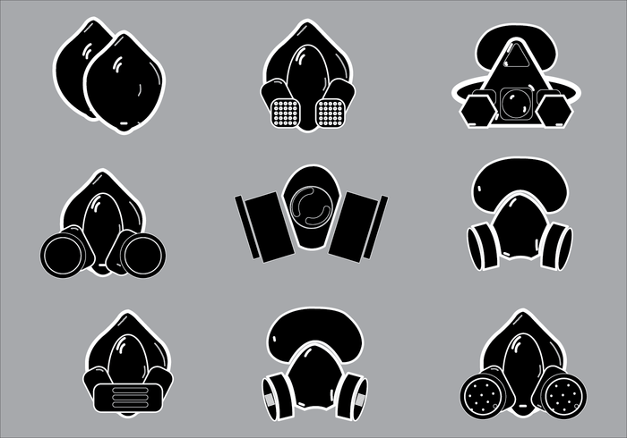 Illustration simple des vecteurs Silhouette Respirator vecteur