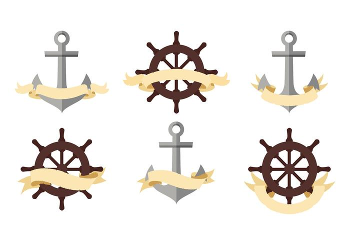 Pirate or Nautical Banners Free Vector
