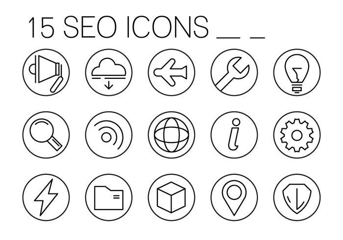 Linear SEO Icons