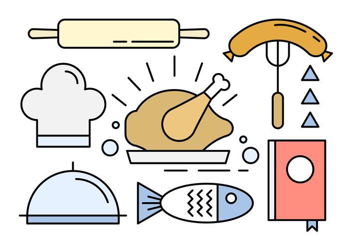 Vectors of Food Icons in Minimal Design