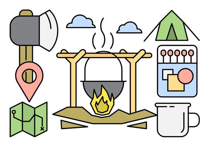 Linear Camping Illustration