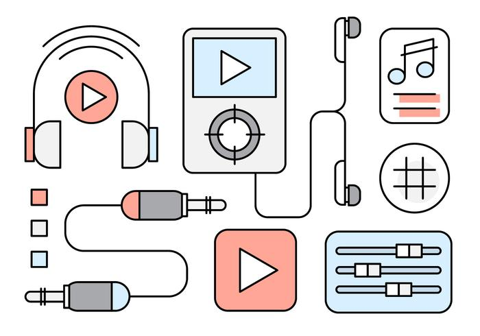 Free Linear Music Icons