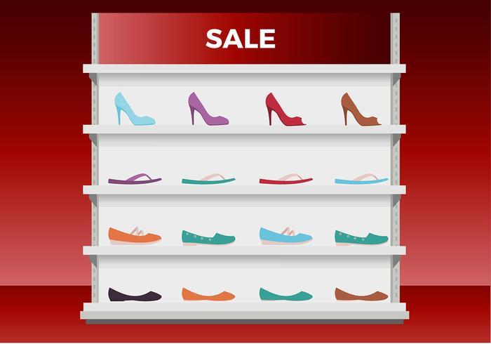 Ladies Shoes Display Free Vector