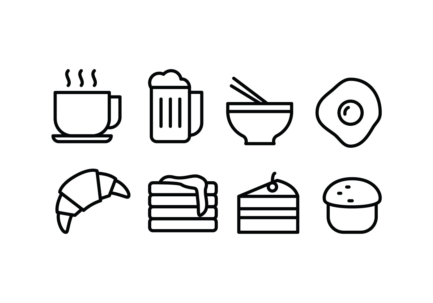Food And Drink Icons 71910 Free Downloads