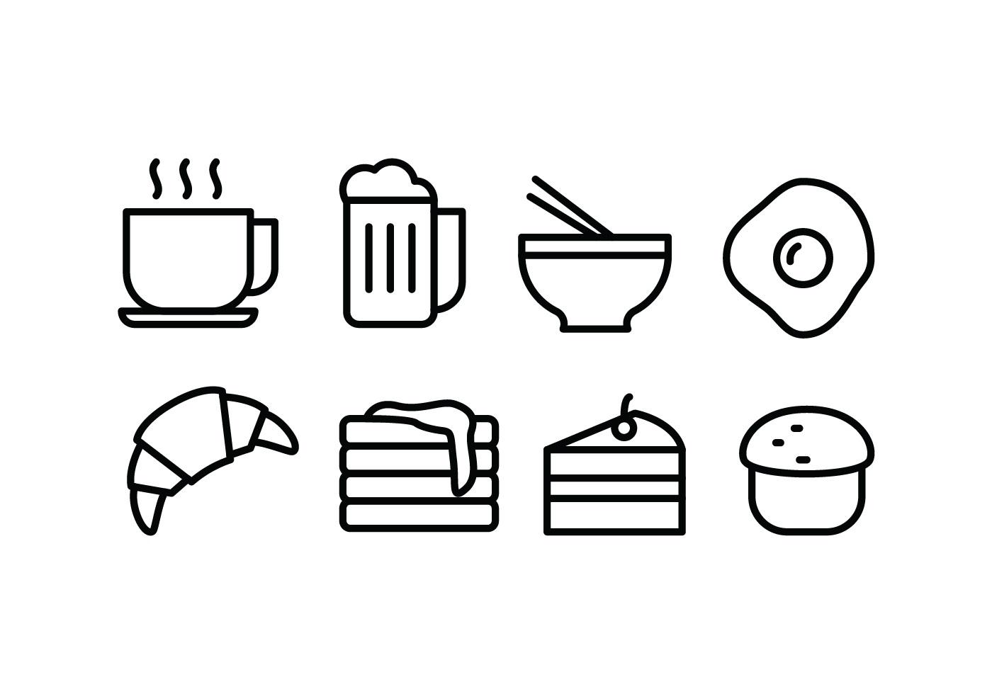 food drink icons vector clipart vectors graphics