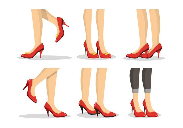 Ruby Slippers Collection Illustration Vecteur