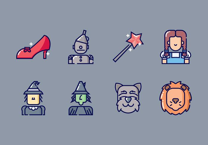 The Wizard of Oz Icon Set
