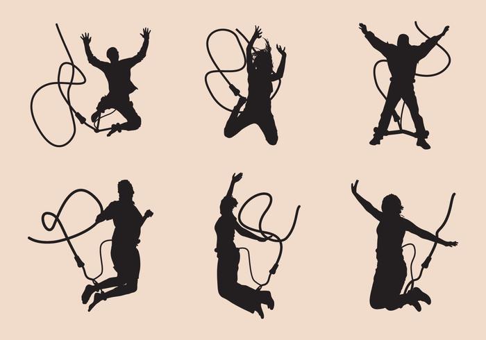 Conjunto de silueta de salto de tirón