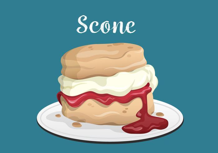 Scone Dessert Vector Background Illustration