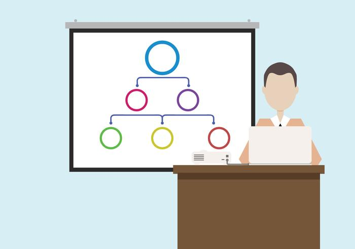 Man Doing Presentation Vector
