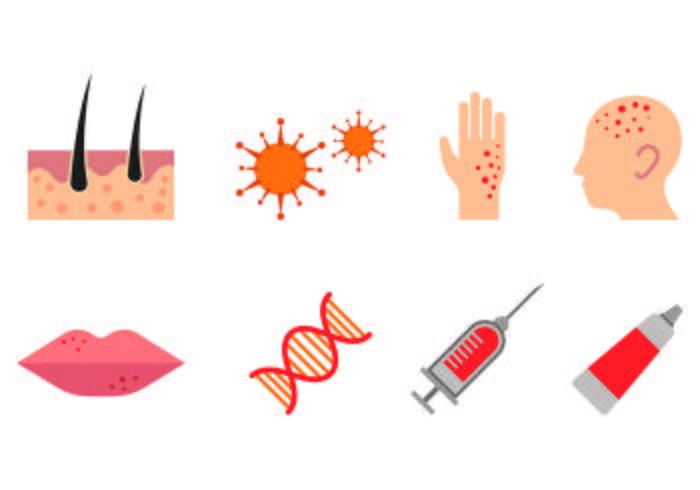 Set di icone di dermatologia