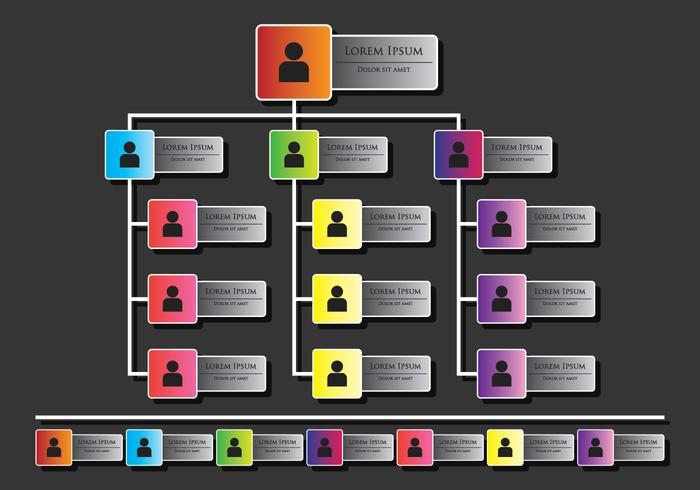 Infografica di organigramma