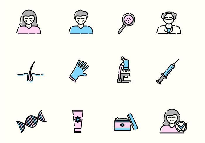 Dermatology Vector Icons