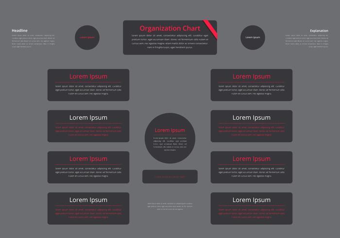 Organigrama, estructura del negocio vector