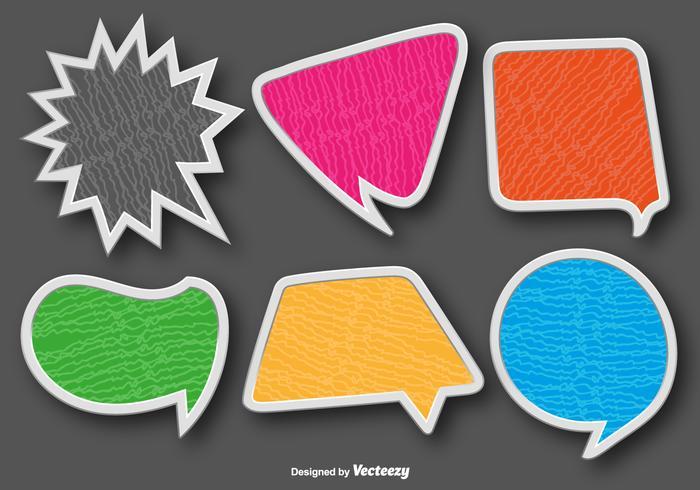 Colorful Speech Bubbles Vector Set
