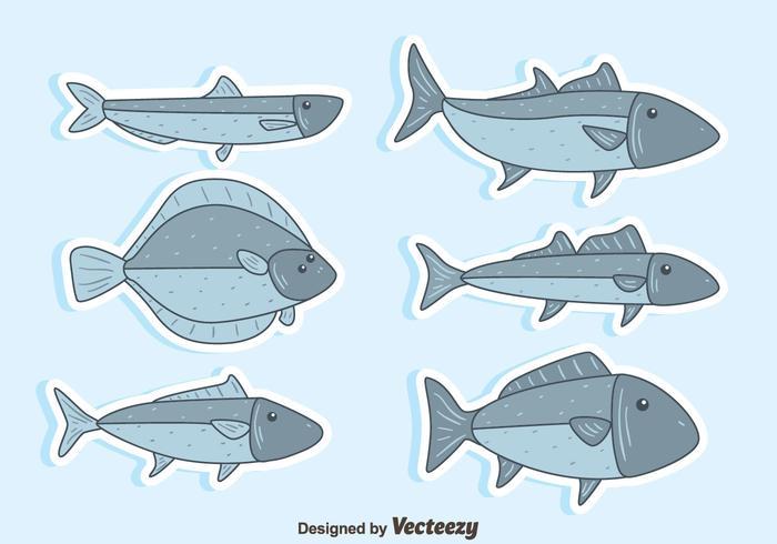 Mooie vis collectie vector
