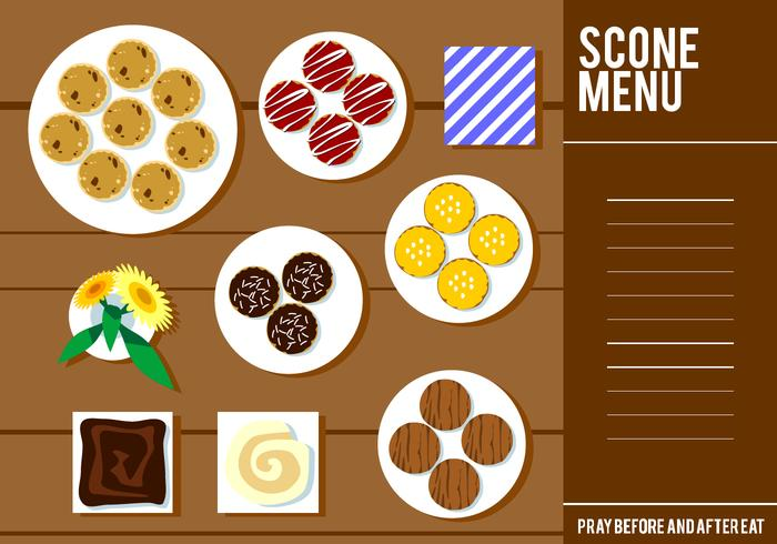 Scone menu free vector