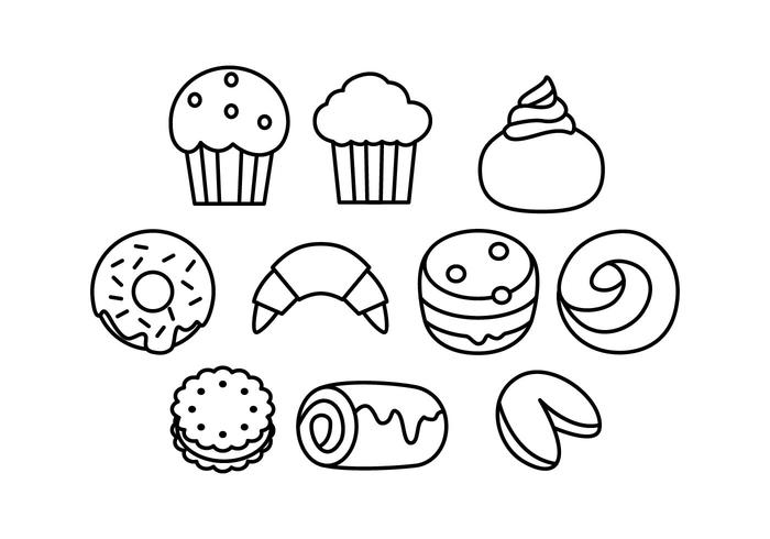 Free Bakeries Line Icon Vektor