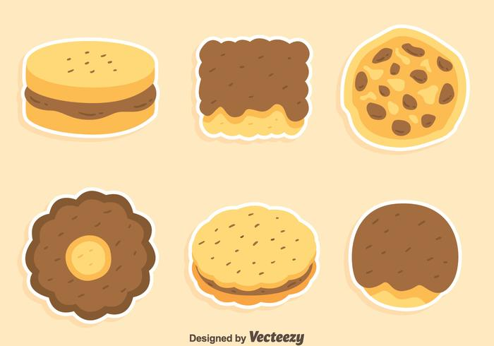 Cookies And Cake Collection Vector