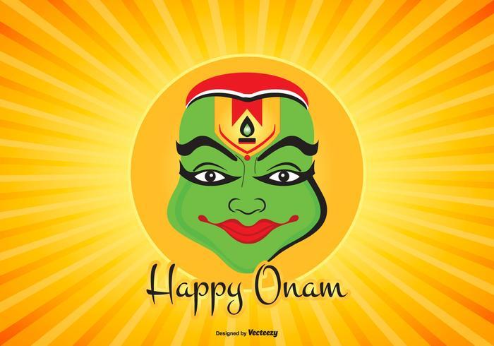 Colorful Happy Onam Illustration