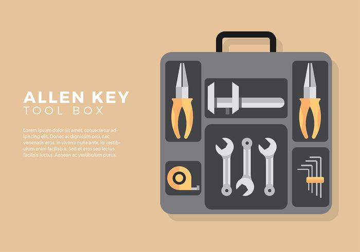 Allen Key Tool Box Gratis Vector