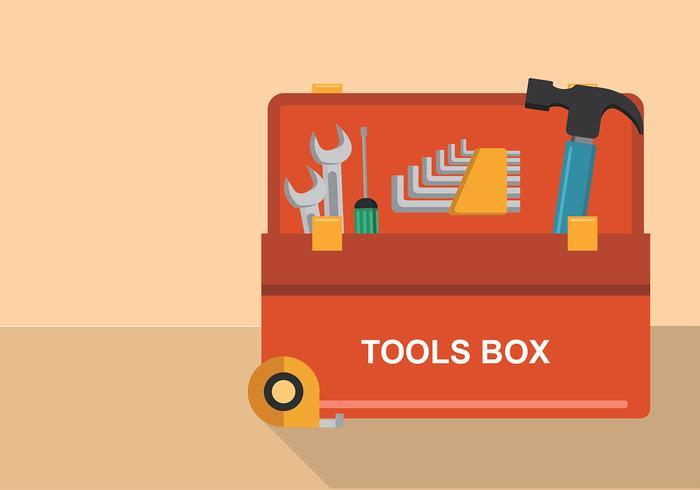 Allen Key Tools Box Free Vector