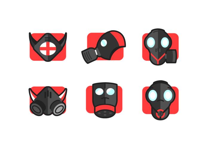 Pack de vecteur gratuit pour masque respiratoire