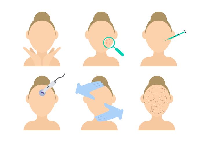Belleza Dermatología Vector