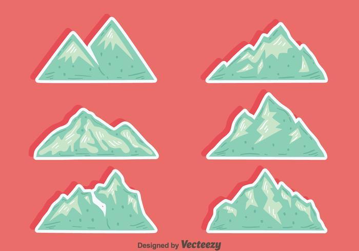 Vecteurs de montagne importés