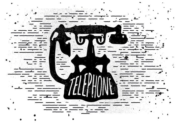 Libre Vintage Teléfono Vector Ilustración