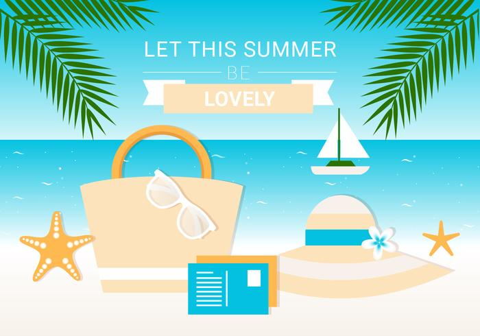 Free Summer Elements Vector Background