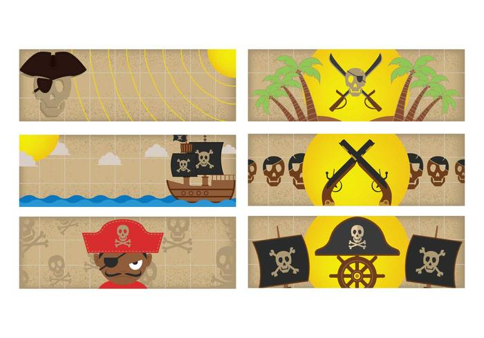 Pirate banner set