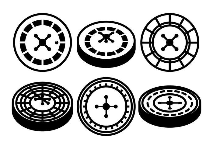 Roulette table vector set