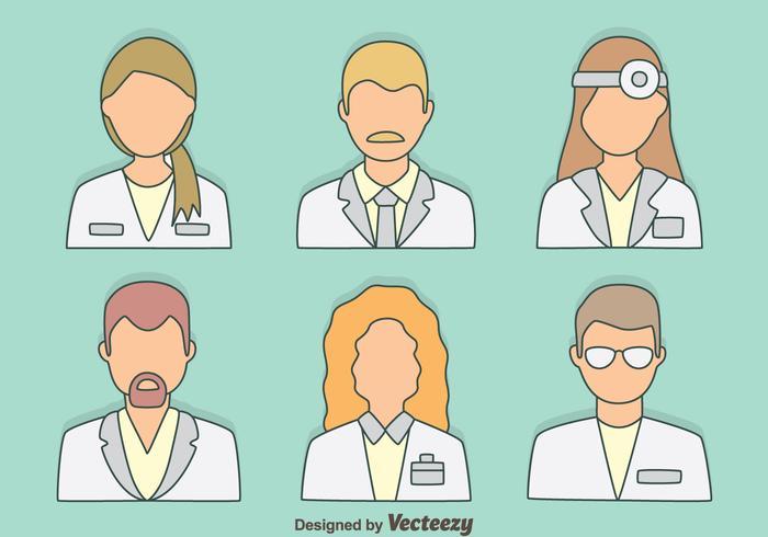 Vector coleção de doutores