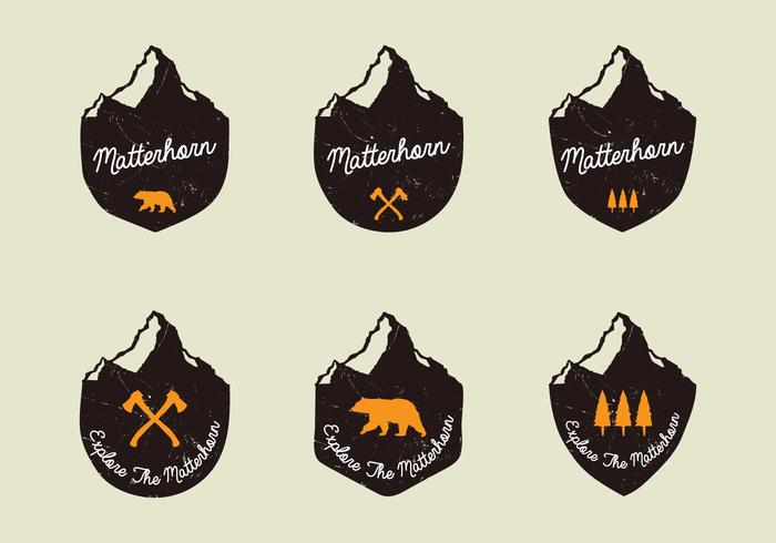 Matterhorn Handdrawn Badges