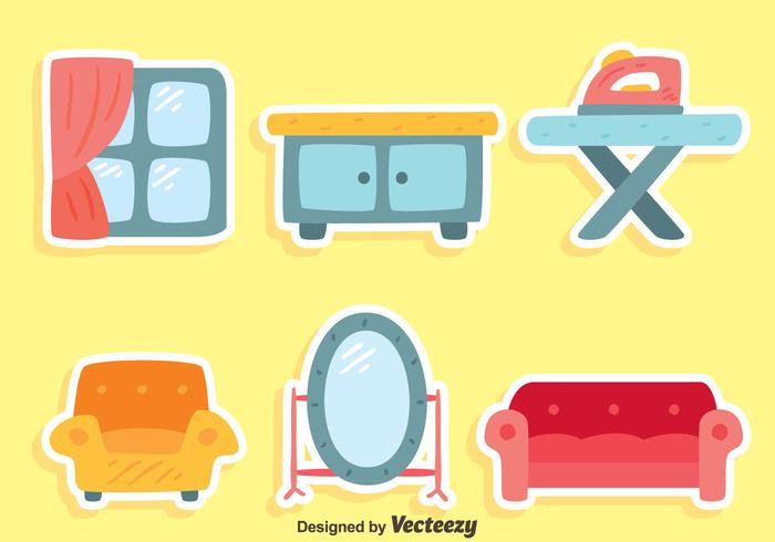 Nice Home Furniture Collection Vector