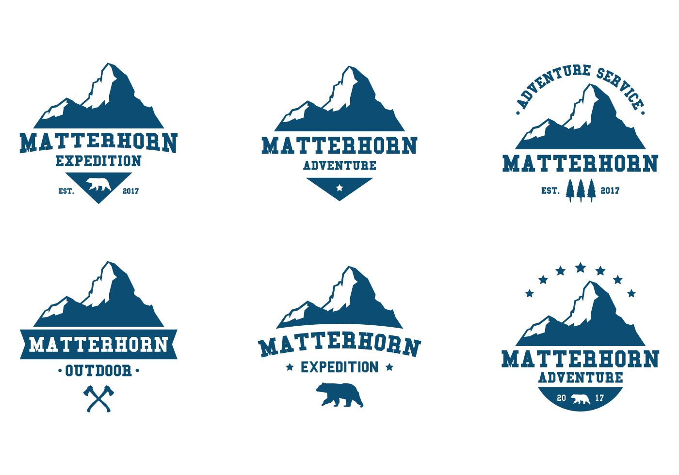 Matterhorn Adventure Label Download Free Vector Art