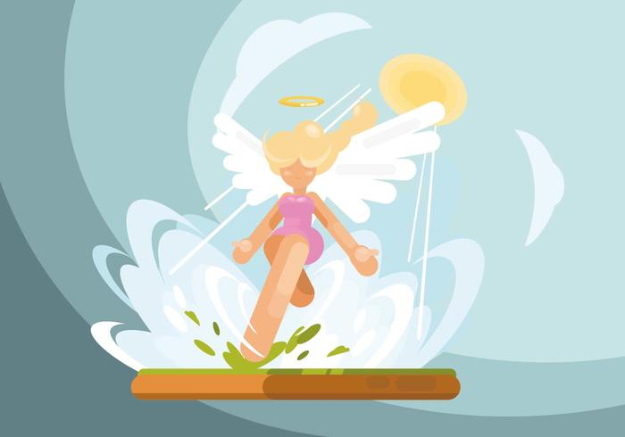 Illustrazione di ali di angelo vettore