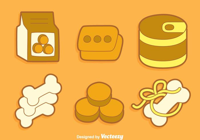 Dog Food Collection Vector