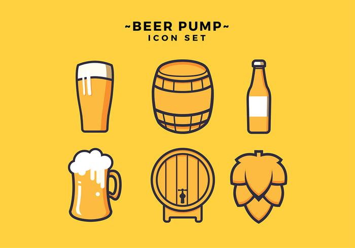 Beer Icon Set Free Vector