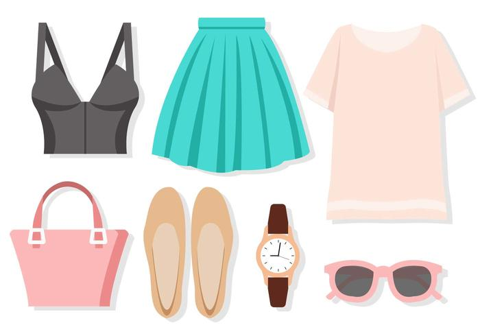 Free Fashion Set of Woman Vector